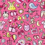 Speelgoed voor babyjongen, naadloos patroonontwerp Stock Afbeelding