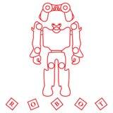 Speelgoed voor kinderen: robot, afstandsbediening, kubussen Royalty-vrije Stock Afbeeldingen