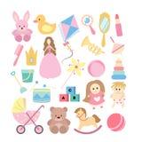 Speelgoed voor meisjes royalty-vrije illustratie