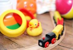 Speelgoedinzameling, houten trein royalty-vrije stock foto's