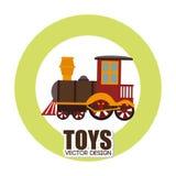 Speelgoedontwerp over witte vectorillustratie als achtergrond Stock Foto's
