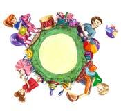 Speelgoedplaneet Stock Foto's