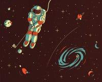 Speelgolf met de sterren vectorillustratie stock illustratie