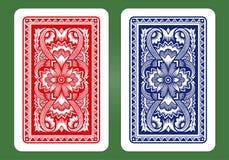 Speelkaart Achterontwerpen Royalty-vrije Stock Afbeeldingen