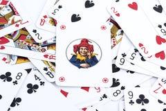 Speelkaartachtergrond stock fotografie