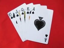 Speelkaarten stock foto's