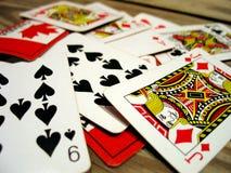 Speelkaarten Royalty-vrije Stock Foto's