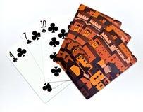 Speelkaarten stock afbeeldingen