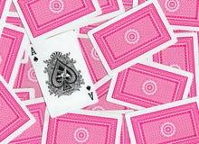 Speelkaarten, Aas van Spades Royalty-vrije Stock Afbeelding