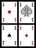 Speelkaarten - azen Royalty-vrije Stock Fotografie