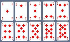 Speelkaarten - Diamant Royalty-vrije Stock Afbeelding