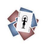 Speelkaarten en joker Royalty-vrije Stock Foto