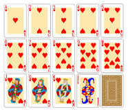 Speelkaarten - Harten Stock Fotografie