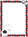 Speelkaarten met grens Royalty-vrije Stock Foto's