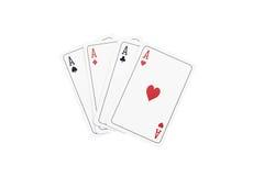 Speelkaarten - op witte achtergrond worden geïsoleerd die Royalty-vrije Stock Afbeeldingen