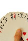 Speelkaarten - uit gewaaid dek royalty-vrije stock fotografie