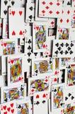 Speelkaartenachtergronden royalty-vrije stock foto's