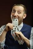 Speelkaartentruc Royalty-vrije Stock Foto's