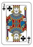 Speelkaarthefboom van Clubs Gele Rode Blauwe Zwarte vector illustratie