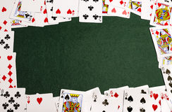 Speelkaartkader stock afbeelding