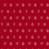 Speelkaartkostuums, naadloze patroonachtergrond Royalty-vrije Stock Foto