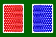 Speelkaartrug stock illustratie