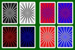 Speelkaartrug Royalty-vrije Stock Foto