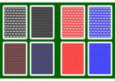Speelkaartrug Stock Afbeeldingen
