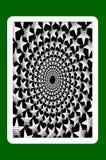 Speelkaartrug vector illustratie