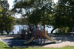 Speelplaats bij het park royalty-vrije stock fotografie