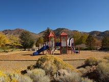Speelplaats in de bergen Royalty-vrije Stock Afbeeldingen