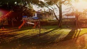 Speelplaats in de herfst Royalty-vrije Stock Fotografie