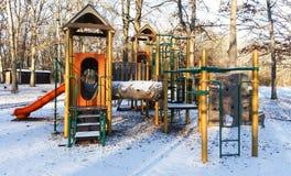 Speelplaats in een Park Royalty-vrije Stock Fotografie