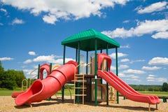 Speelplaats in Sunny Day Royalty-vrije Stock Foto's