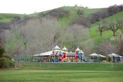 Speelplaats in het idyllische plaatsen Stock Afbeeldingen