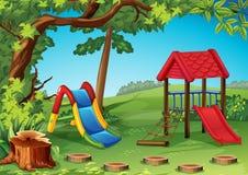 Speelplaats in het park Stock Afbeelding