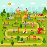 Speelplaats in het park Royalty-vrije Stock Foto