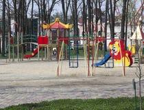 Speelplaats in het Park van Gorky in Kharkiv Royalty-vrije Stock Foto