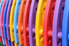 speelplaats met gekleurde plastic secties stock foto