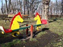 Speelplaats 2 van kinderen Stock Afbeelding