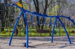 Speelplaats 2 van kinderen Stock Foto