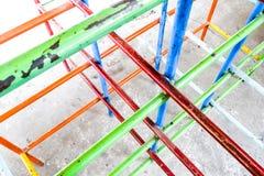Speelplaats van krottenwijk stock fotografie