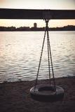 Speelplaats voor het meer Royalty-vrije Stock Afbeelding