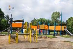 Speelplaats voor kinderen in publiek Royalty-vrije Stock Afbeeldingen