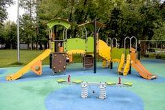 Speelplaats voor pretspelen en children& x27; s onderwijs Royalty-vrije Stock Foto