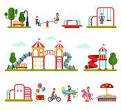 Speelplaatselementen vector illustratie