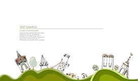 Speelplaatsillustratie, Stadsinzameling royalty-vrije illustratie