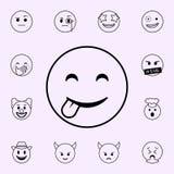 speels glimlachpictogram Voor Web wordt geplaatst dat en het mobiele algemene begrip van Emojipictogrammen stock illustratie