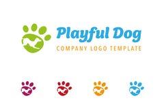 Speels het embleemmalplaatje van het hondbedrijf stock illustratie
