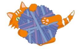 Speels katje stock illustratie